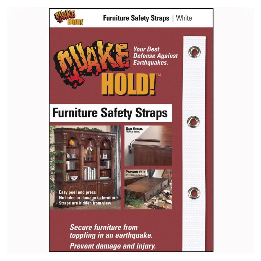 QuakeHOLD! White Furniture Safety Strap