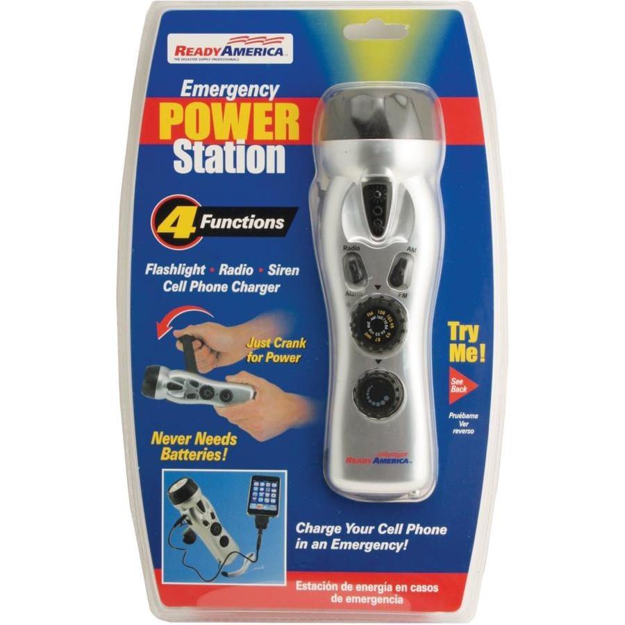 READY AMERICA 5-Lumen LED Rechargeable Handheld Flashlight