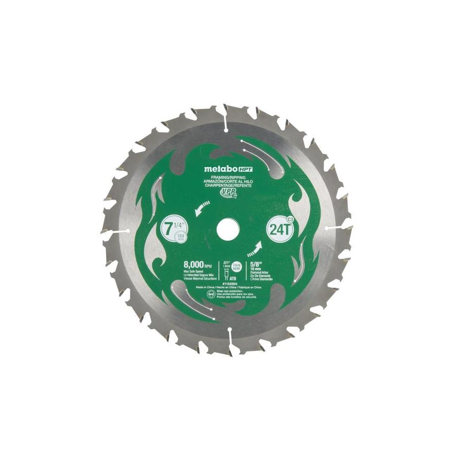 Hitachi 3-Pack 7-1/4-in 24-Tooth Dry Standard Carbide Tooth Circular Saw Blade