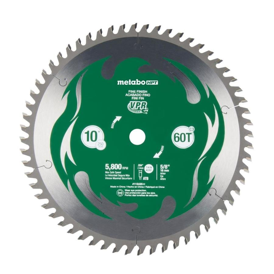 Hitachi 10-in 60-Tooth Dry Standard Carbide Circular Saw Blade