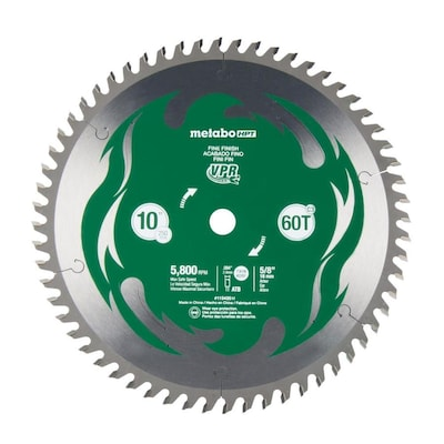 Hitachi Viper 10-in 60-Tooth Carbide Miter Saw Blade at