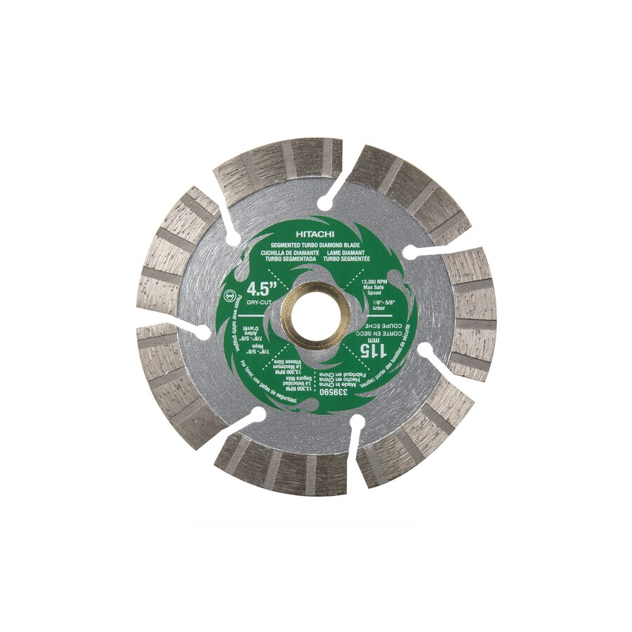 Hitachi 4-1/2-in 9-Tooth Wet or Dry Segmented Diamond Circular Saw Blade