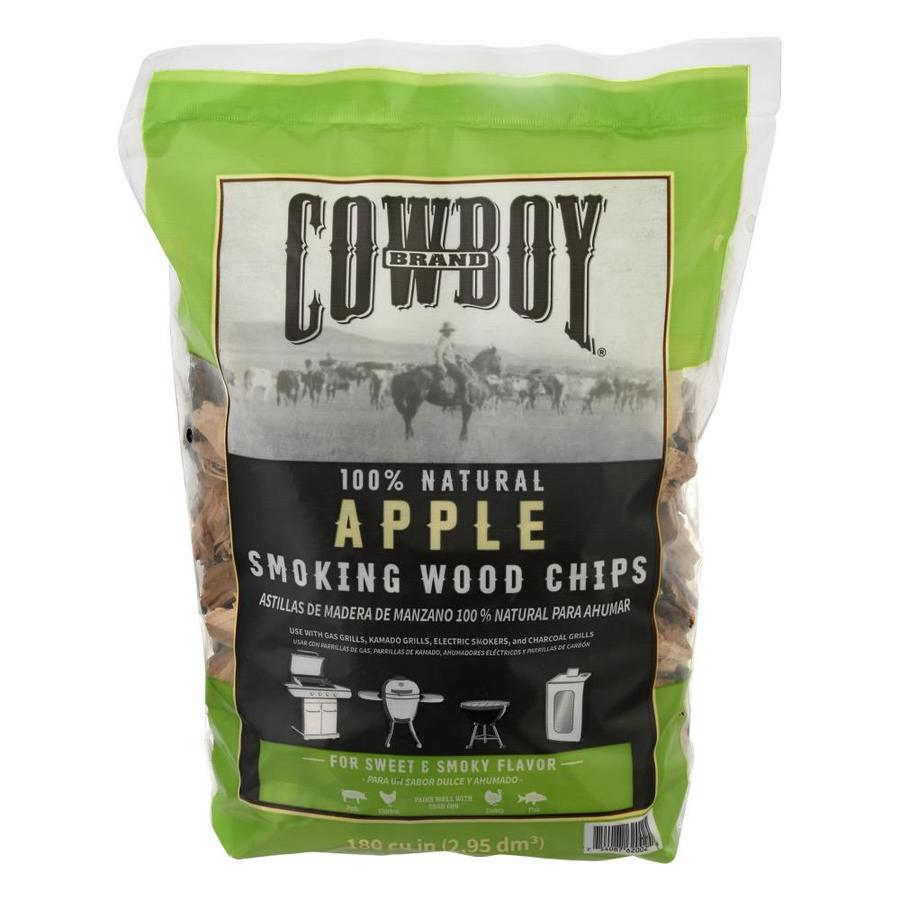 Cowboy Charcoal 180-cu in Apple Wood Chips