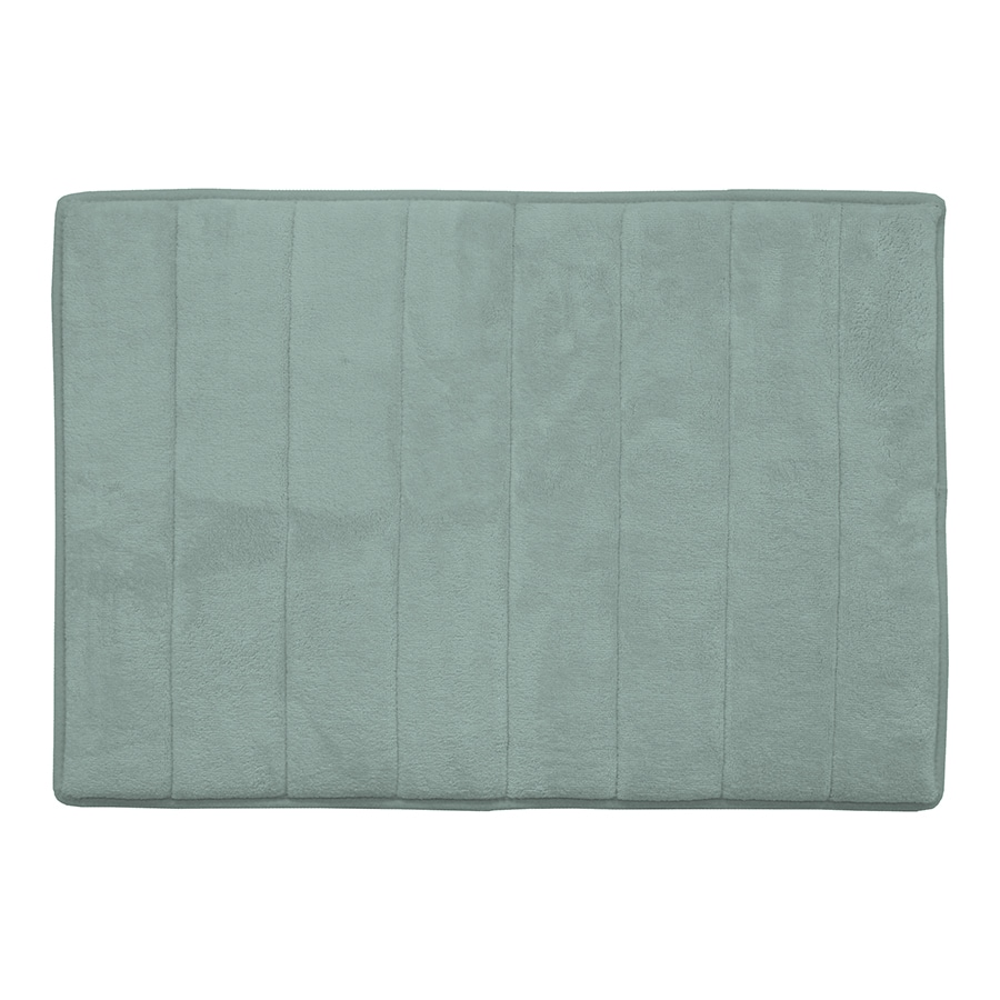 allen + roth 24-in x 17-in Memory Foam Aqua Polyester Bath Mat