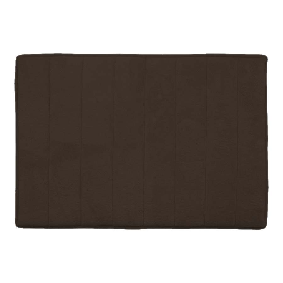 allen + roth 24-in x 17-in Memory Foam Brown Polyester Bath Mat
