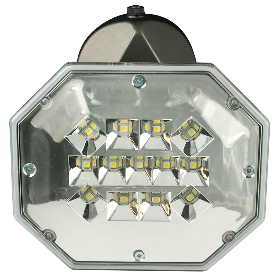 Utilitech 1-Head 32-Watt Brown LED Dusk-To-Dawn Flood Light