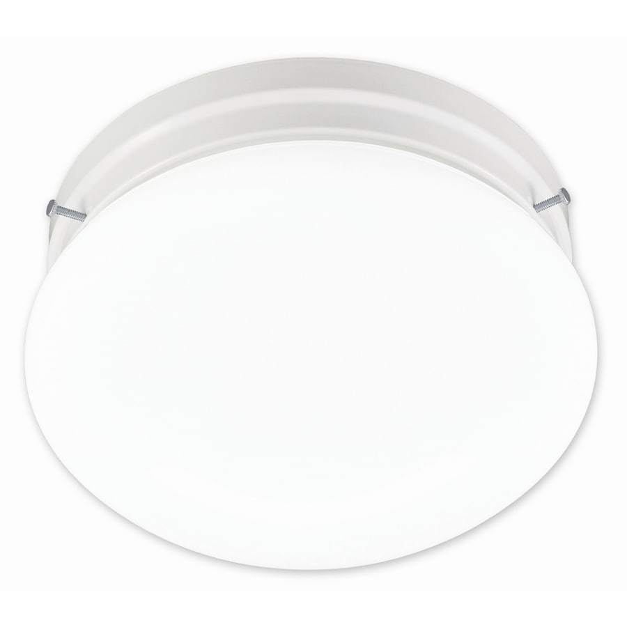 Portfolio 9-in W White Flush Mount Light