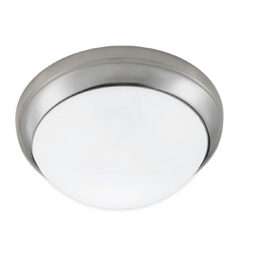 Portfolio 15-in Brushed Nickel Ceiling Fluorescent Light ENERGY STAR