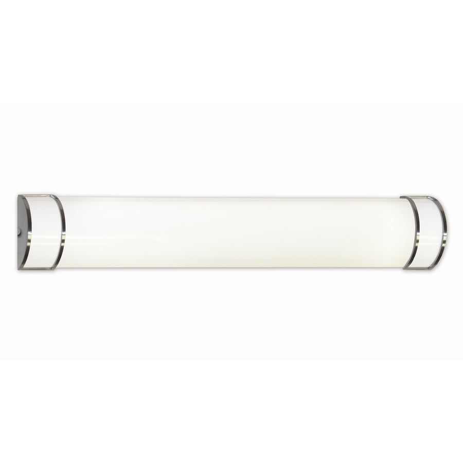 Portfolio New Castle 2-Light 6-in White Cylinder Vanity Light