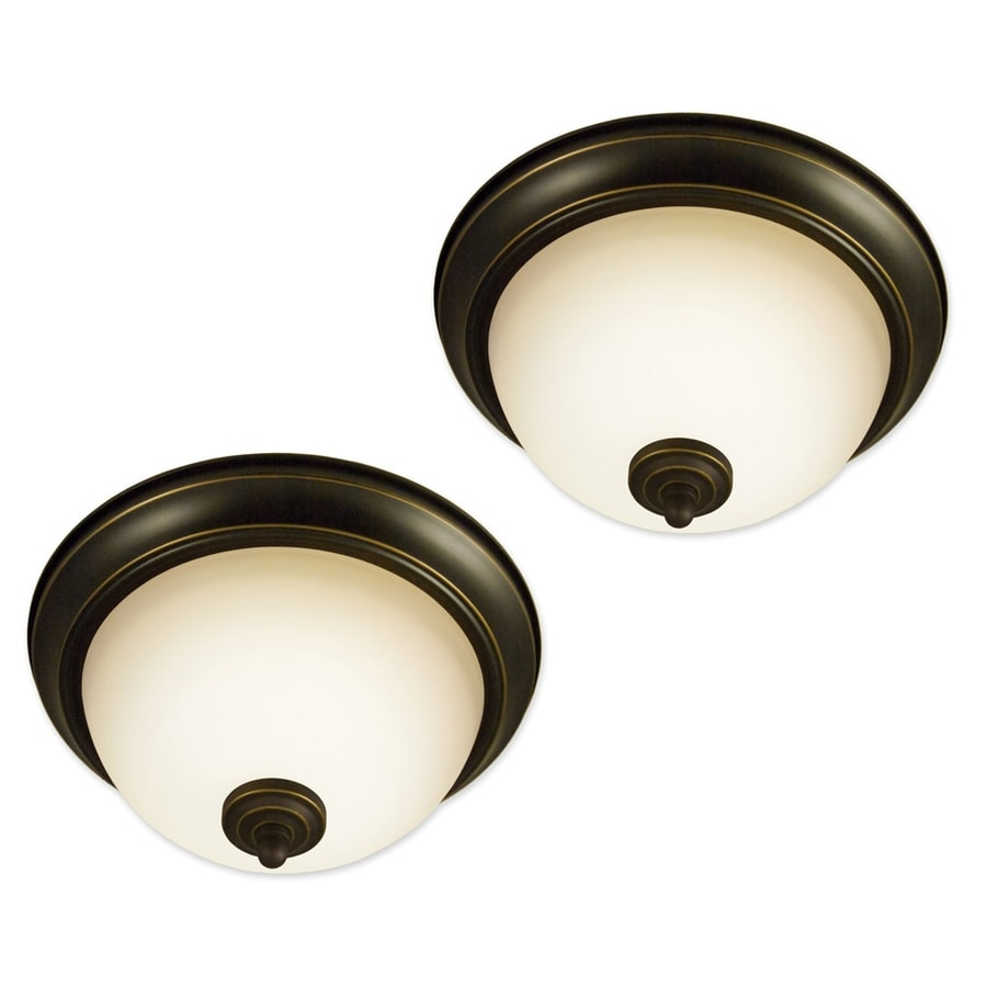 Good Earth Lighting 2-Pack Taverna 11.25-in W Oil Rubbed Bronze Standard Flush Mount Light