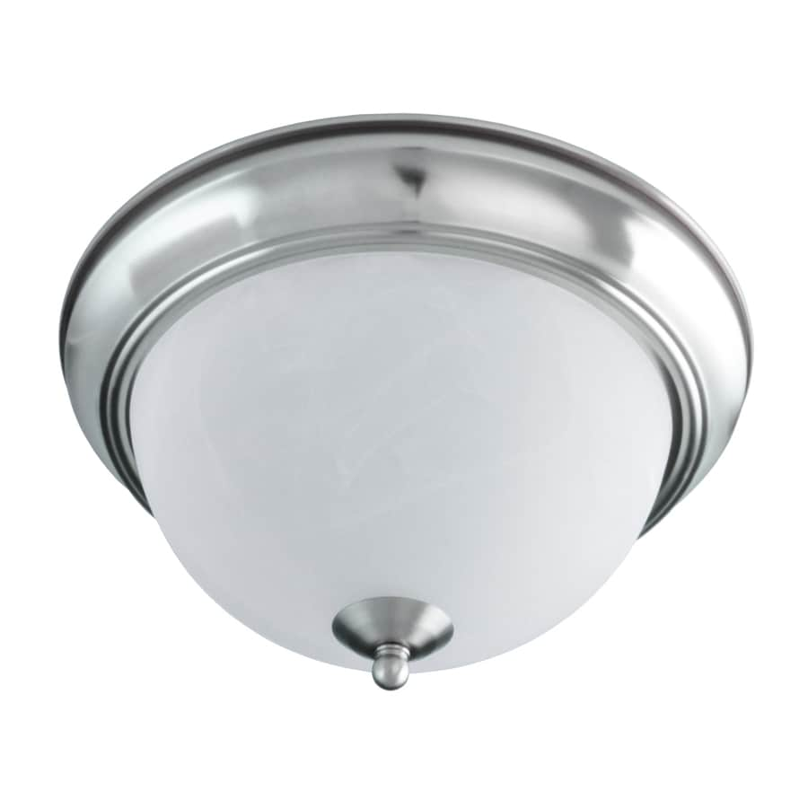 Good Earth Lighting Taverna 11.25-in W Brushed Nickel Flush Mount Light