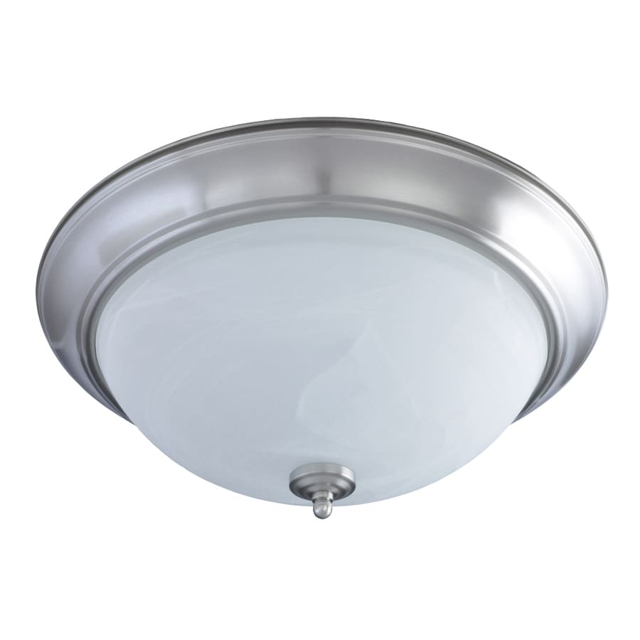 Shop Good Earth Lighting Taverna 19.37-in W Brushed nickel Flush ...