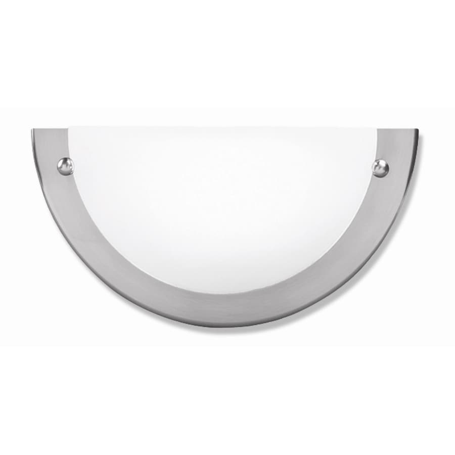 Good Earth Lighting Glencoe 8.5-in W 1-Light Nickel Pocket Hardwired Wall Sconce