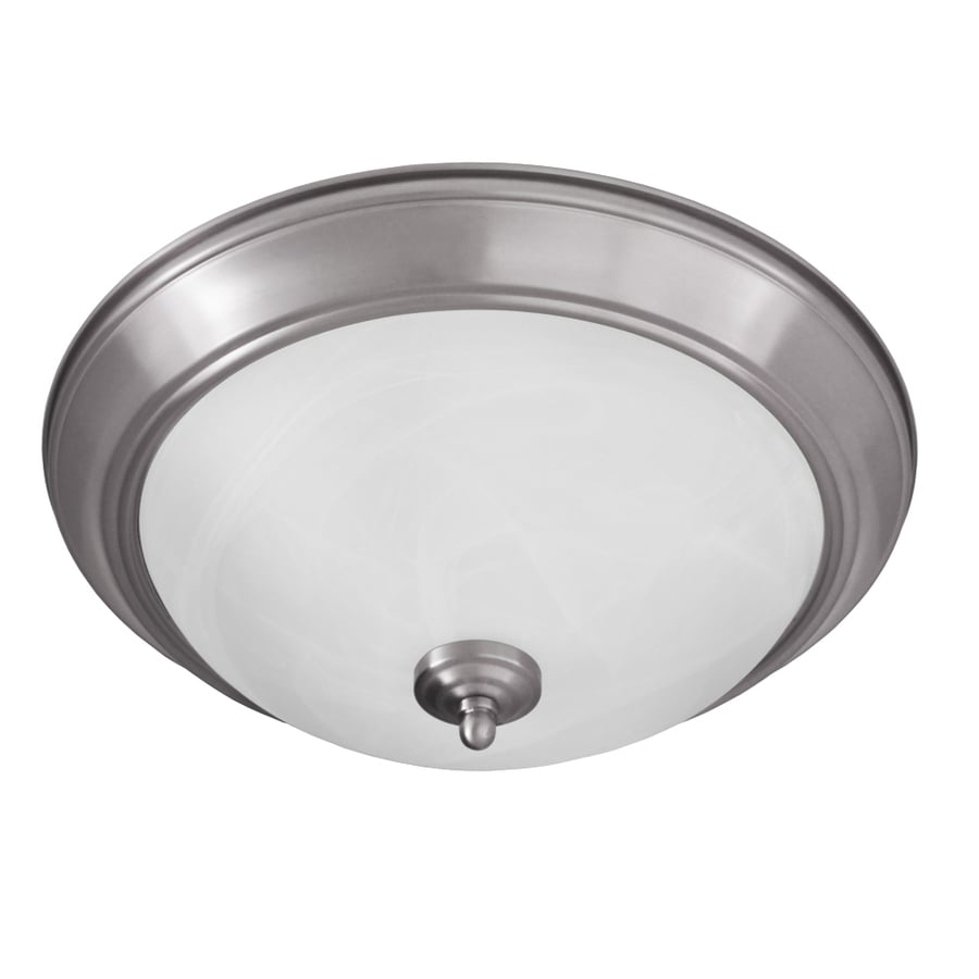 Good Earth Lighting Taverna 15.25-in W Brushed Nickel Flush Mount Light
