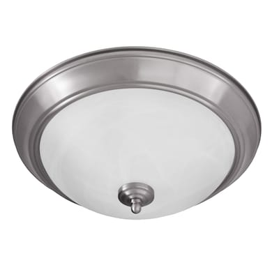 Taverna 15 25 In Brushed Nickel Modern Contemporary Flush Mount Light