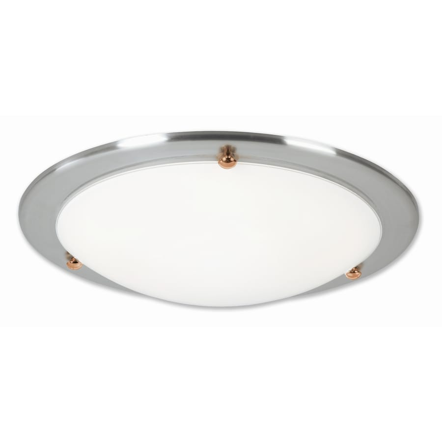 Good Earth Lighting Laguna 14.5-in W Brushed nickel Flush Mount Light ENERGY STAR