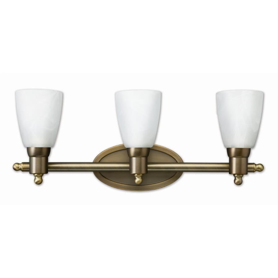 Good Earth Lighting 3-Light Danube Antique Brass Bathroom Vanity Light