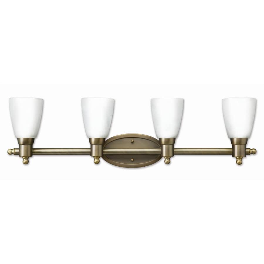 Good Earth Lighting 4-Light Danube Antique Brass Bathroom Vanity Light