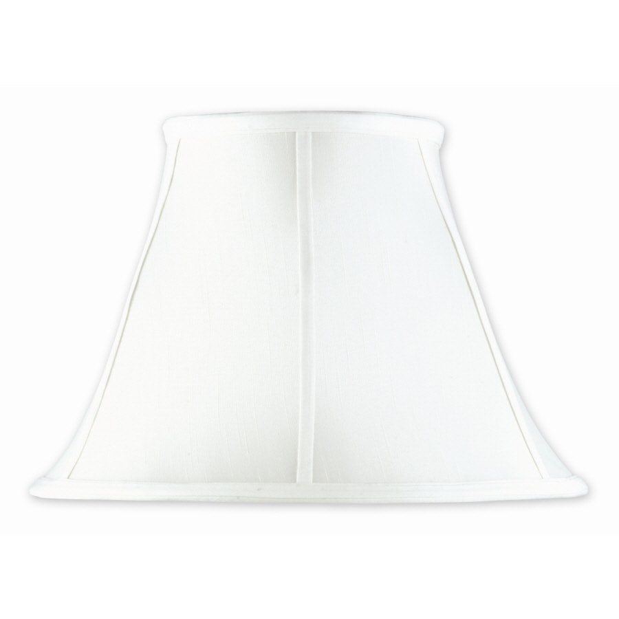 Good Earth Lighting Taverna 10-in x 14-in White Fabric Bell Lamp Shade