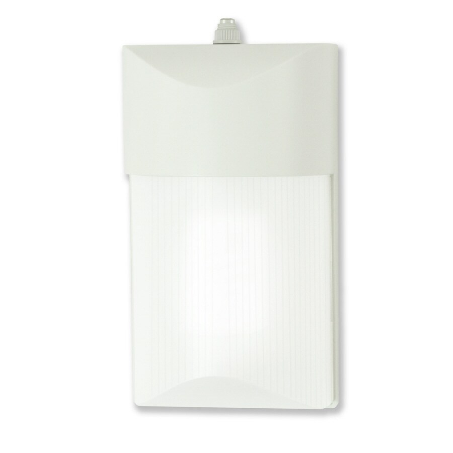 Utilitech 1-Head 13-Watt White Fluorescent Dusk-to-Dawn Flood Light