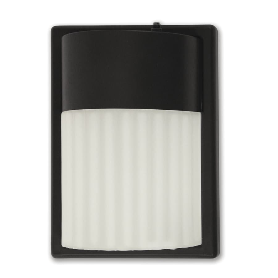 head 27 watt black fluorescent dusk to dawn flood light at. Black Bedroom Furniture Sets. Home Design Ideas