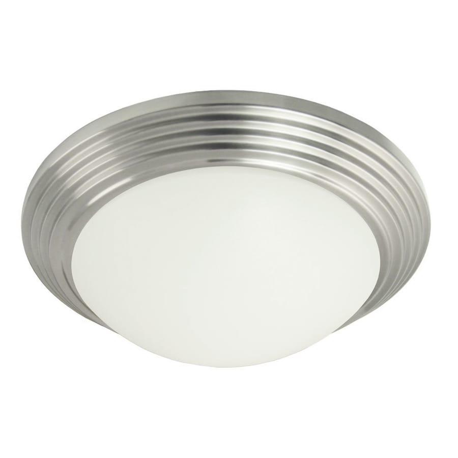 Good Earth Lighting Andiamo 13.62-in W Brushed Nickel Standard Flush Mount Light