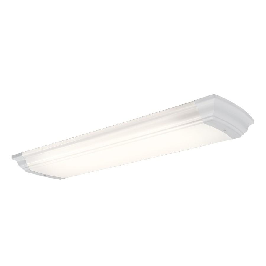 Portfolio White Acrylic Ceiling Fluorescent Light (Common: 4-ft; Actual: 51-in)
