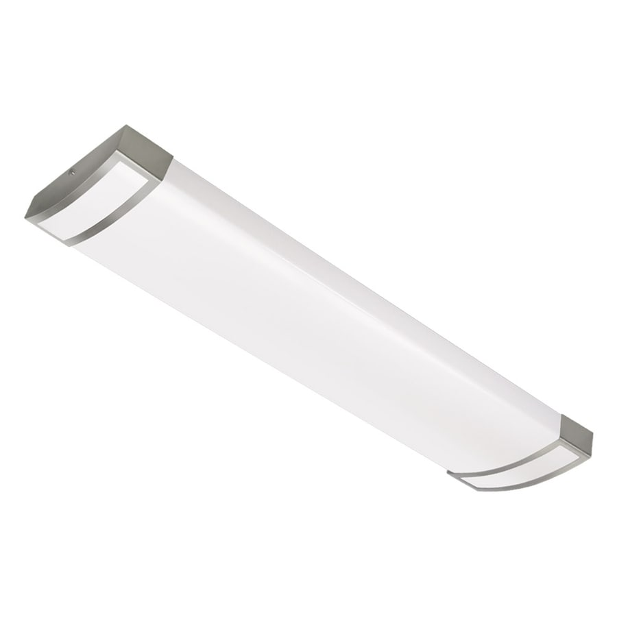 Shop Portfolio White Acrylic Ceiling Fluorescent Light (Common: 4-ft ...