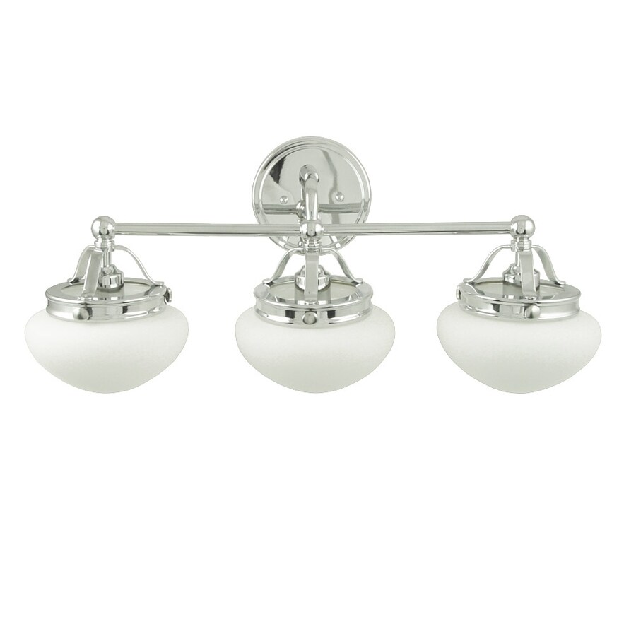 allen + roth 3-Light Bostonian Chrome Bathroom Vanity Light