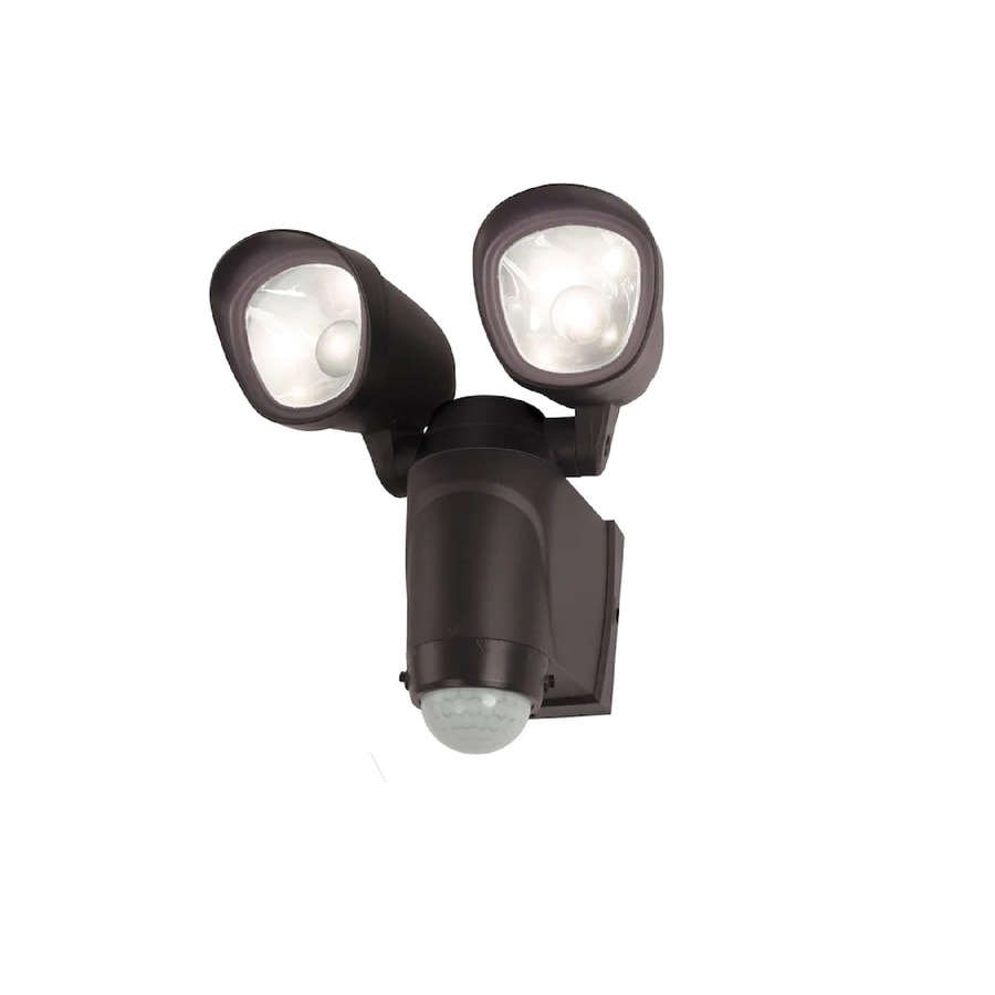 Battery Operated Flood Lights Lowes : Utilitech degree head black led motion