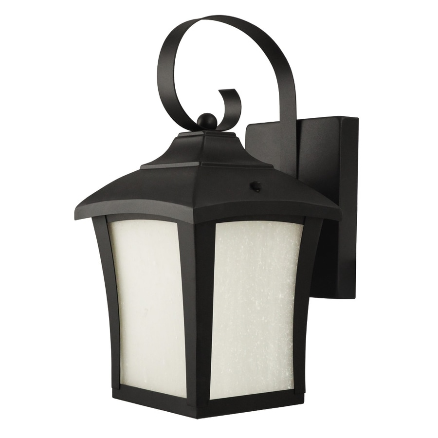 Good Earth Lighting 12-in H Black Outdoor Wall Light