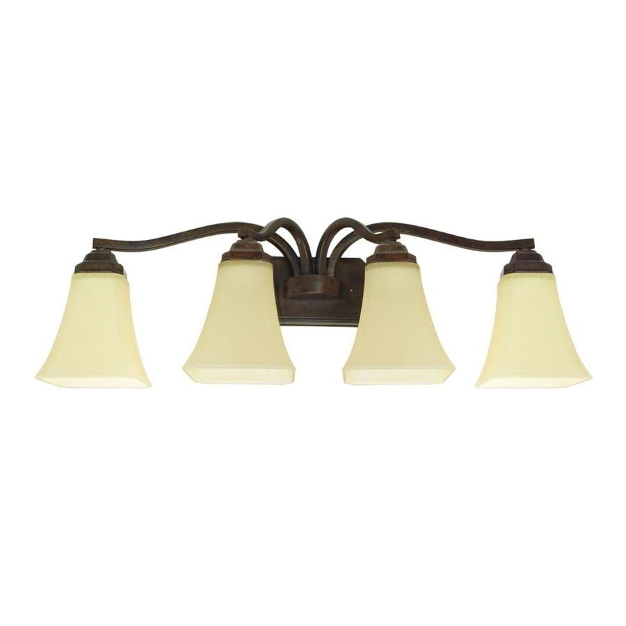 Shop Good Earth Lighting Metropolitan 4-Light 10-in Bronze Vanity Light at Lowes.com