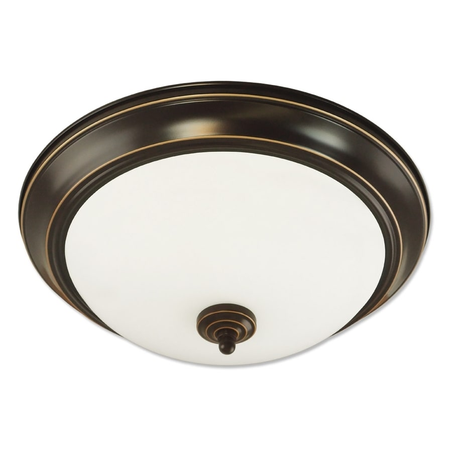 Good Earth Lighting Brentwood 15.25-in W Oil Rubbed Bronze Flush Mount Light