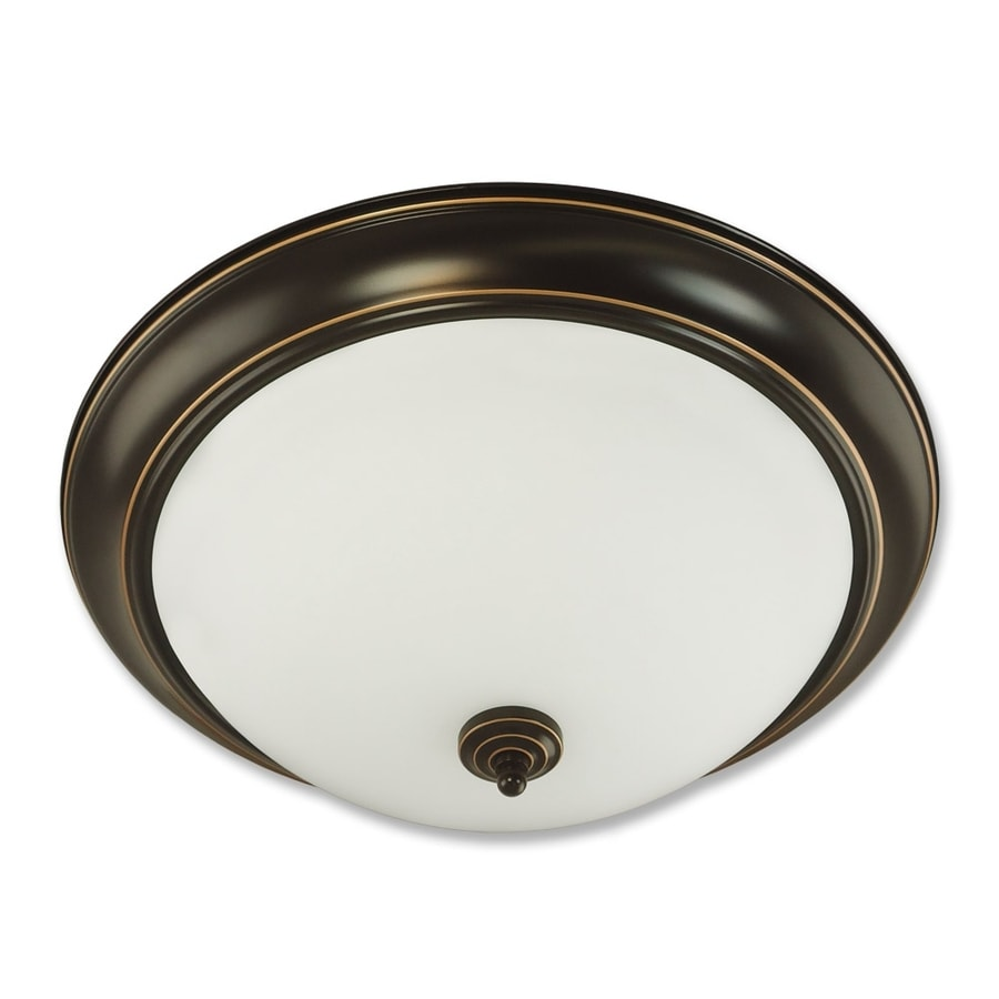 Good Earth Lighting Brentwood 19.37-in W Oil Rubbed Bronze Standard Flush Mount Light