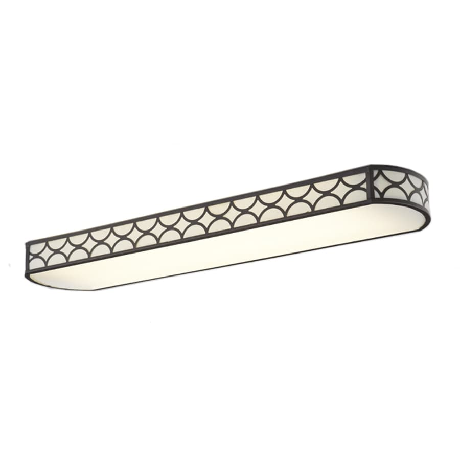 Attirant Allen + Roth Capistrano White Acrylic Ceiling Fluorescent Light (Common:  4 Ft;