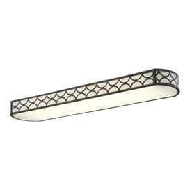 Shop flush mount fluorescent lights at lowes allen roth capistrano white acrylic ceiling fluorescent light common 4 ft workwithnaturefo