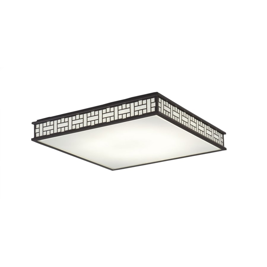 Shop flush mount fluorescent lights at lowes allen roth linenline white acrylic ceiling fluorescent light common 2 ft arubaitofo Images