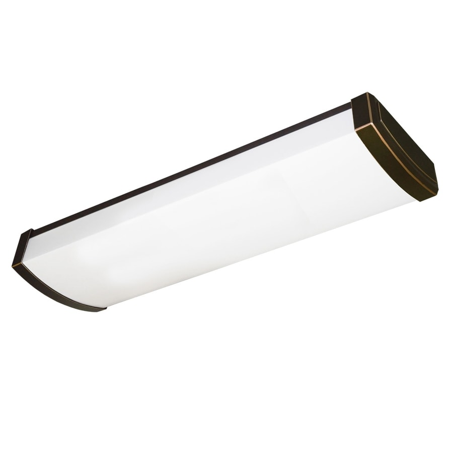 Shop Utilitech Tombstone White Acrylic Ceiling Fluorescent Light ...