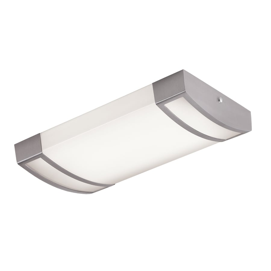 Shop flush mount fluorescent lights at lowes portfolio white acrylic ceiling fluorescent light common 2 ft actual 2475 arubaitofo Images