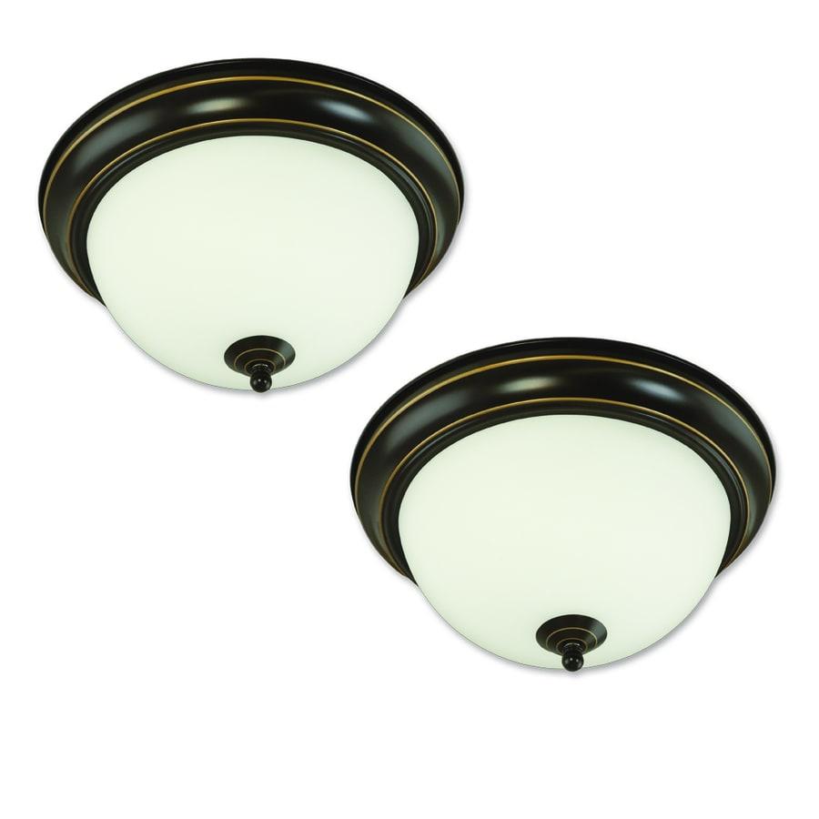 Good Earth Lighting 2-Pack Brentwood 11.25-in W Oil Rubbed Bronze Ceiling Flush Mount Light