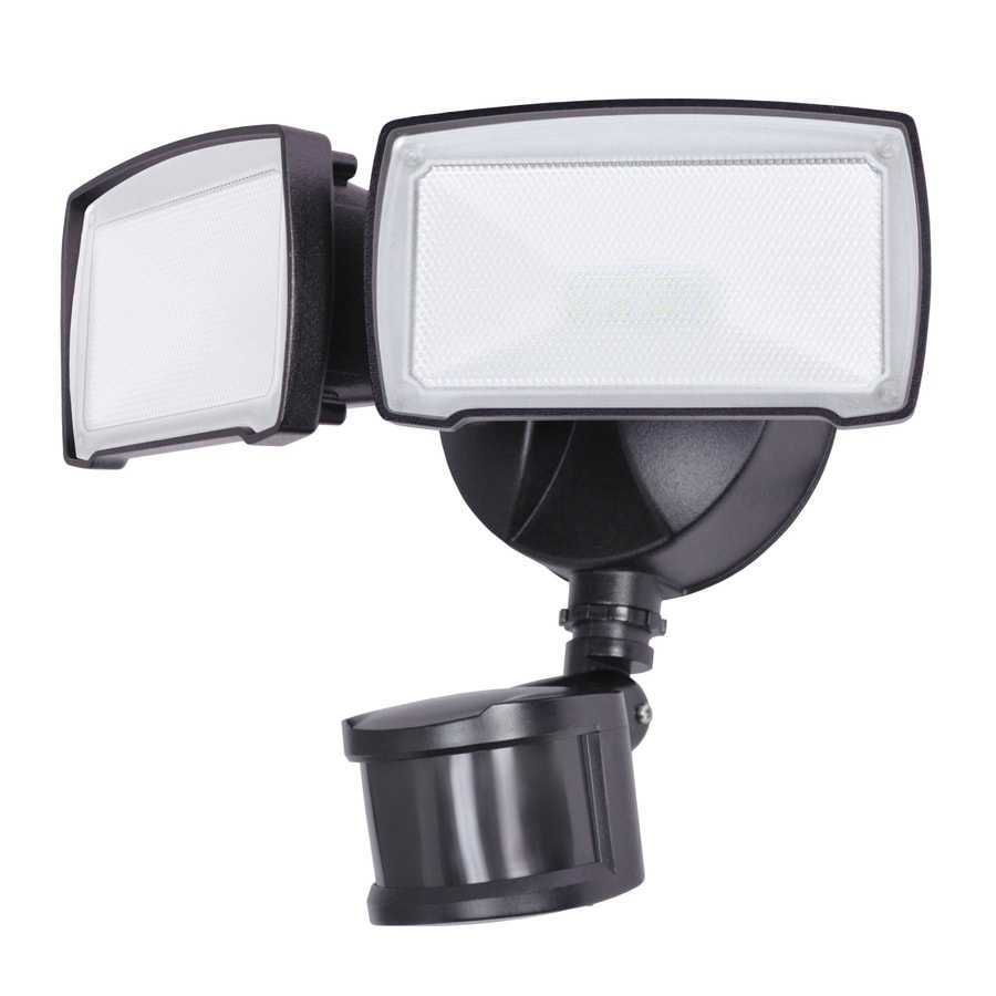 Utilitech Pro 180 Degree 2 Head Integrated LED Motion Activated Flood Light  With
