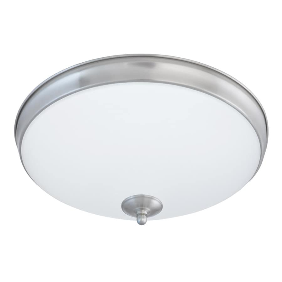 Good Earth Lighting Legacy 11-in W Satin nickel LED Flush Mount Light ENERGY STAR