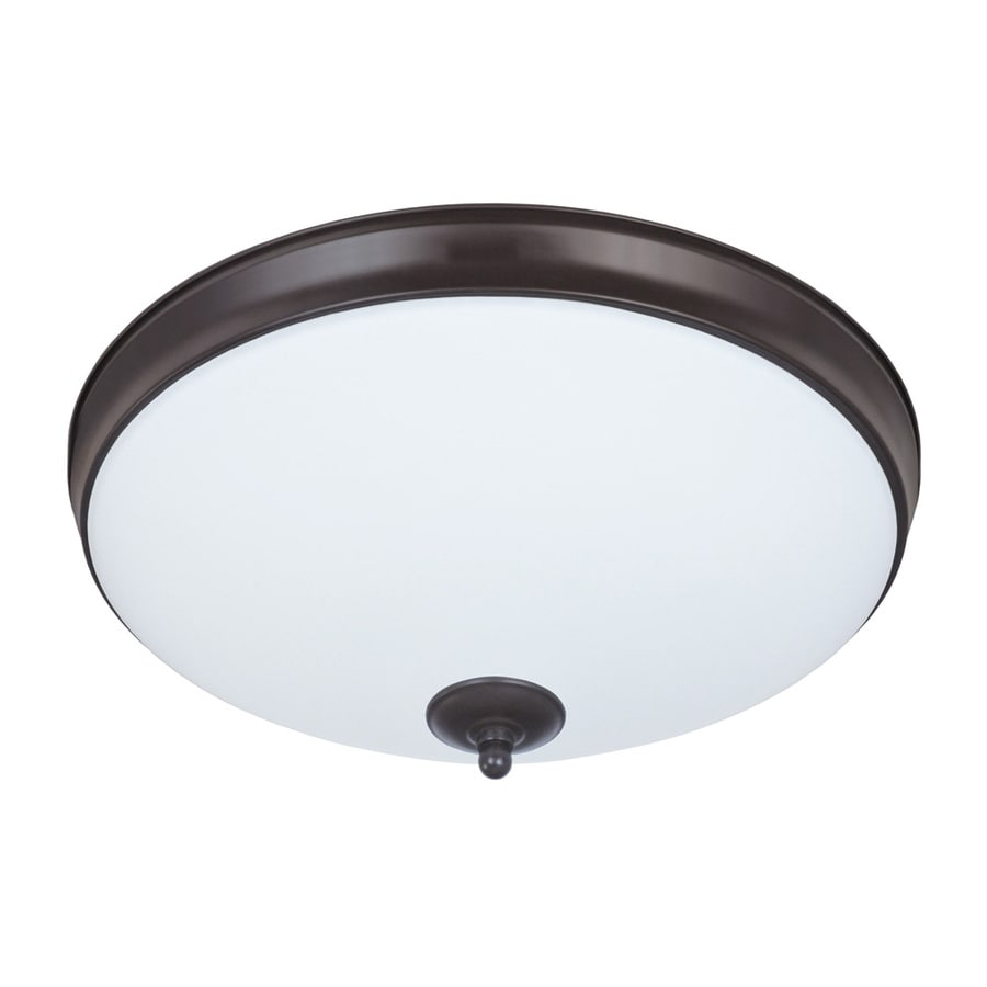 Good Earth Lighting Legacy 11-in W Light Bronze LED Flush Mount Light