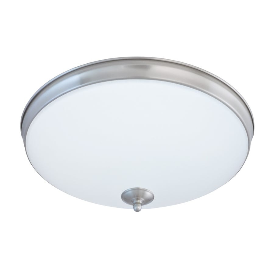 Good Earth Lighting Legacy 15-in W Satin Nickel LED Flush Mount Light