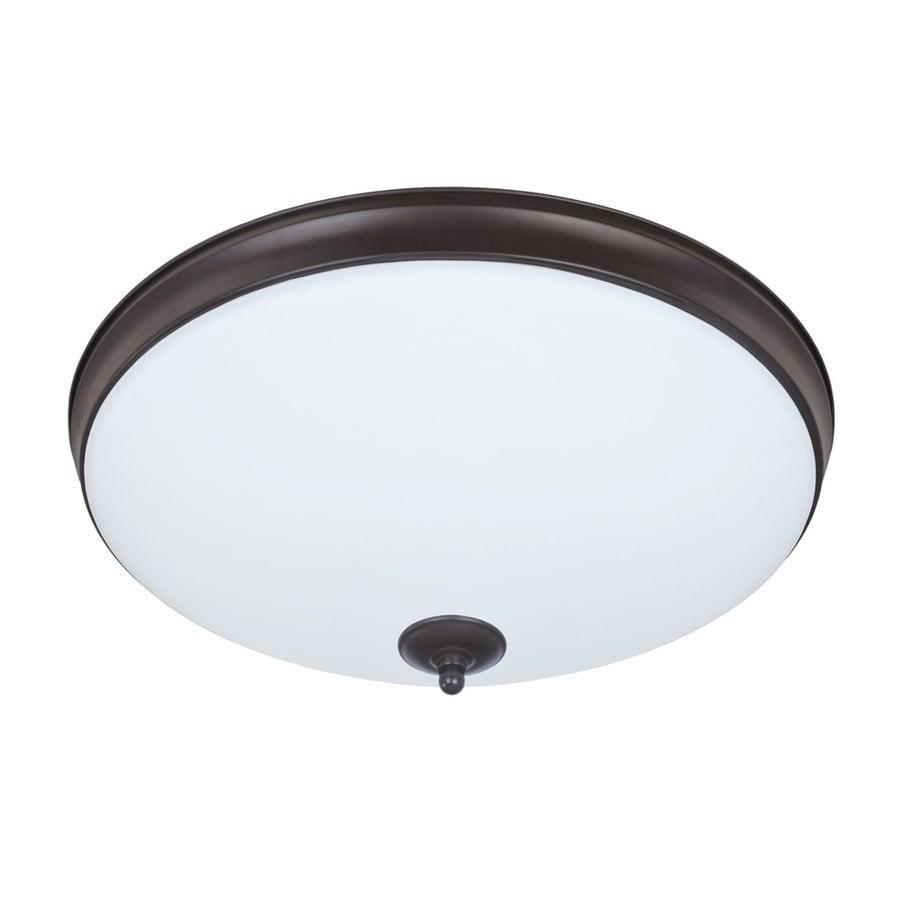 Good Earth Lighting Legacy 15-in W Light Bronze Integrated Flush Mount Light