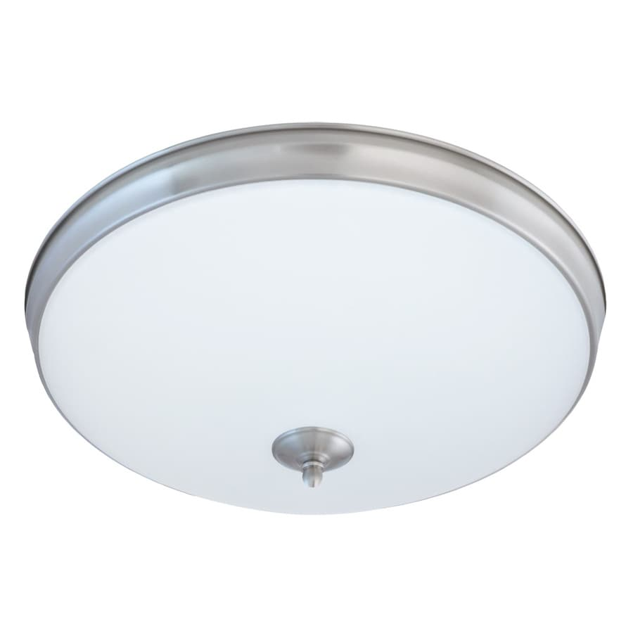 Good Earth Lighting Legacy 19-in W Satin Nickel LED Ceiling Flush Mount Light
