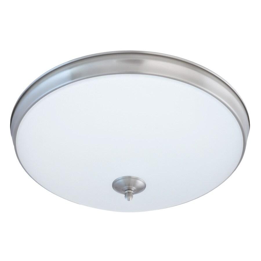 Good Earth Lighting Legacy 19-in W Satin Nickel LED Flush Mount Light