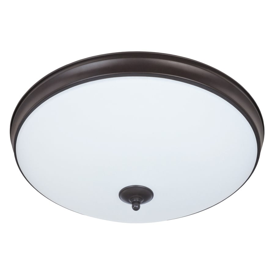 Good Earth Lighting Legacy 19-in W Light Bronze LED Flush Mount Light