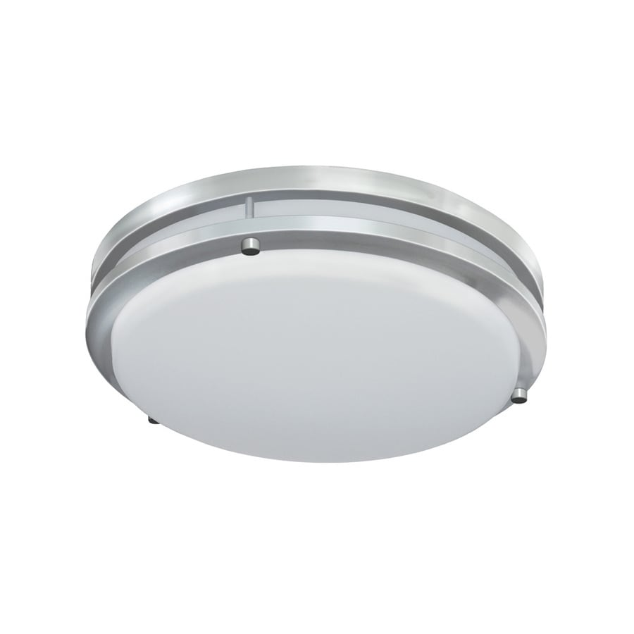 Good earth lighting jordan 11 in brushed nickel transitional led flush mount light energy star