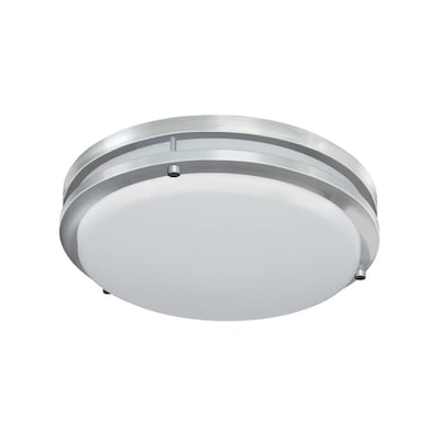 Jordan 11 In Brushed Nickel Transitional Led Flush Mount Light Energy Star
